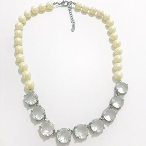 J Crew pearl and crystal statement necklace